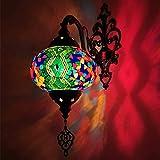 Lámpara De Pared Hecha A Mano Turca Aplique Mosaico Del Estilo De Tiffany Lámpara De Pared De La Lámpara De Noche Marroquí Linterna Decoración Del...