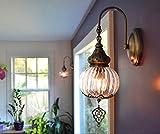 Lámpara de pared marroquí para baño, iluminación oriental, iluminación de pared, iluminación turca, lámpara de pasillo, lámpara de pared hecha a...