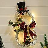 CROSYO 1 UNID Artículos de Navidad Decoración del hogar Luces LED Guirnalda de Navidad Ratán Círculo Guirnalda Festival Fiesta Partido Decoración del...