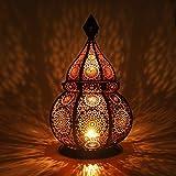 Gadgy ® Farol Arabe (36 cm) l para Velas y Luces eléctricas l Interior y Exterior Decoración l Resistente al Viento l Estilo...
