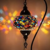 (5 variaciones) lámpara turca, lámpara de mesa de mosaico hecha a mano, pantalla de lámpara, lámpara de mesilla de noche de mosaico marroquí turco,...