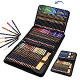 96 Lápices de Colores en estuche con cremallera, Estuche Lapices dibujo profesional para Adultos y Niños - Ideal para Colorear, Mandalas Colorear...
