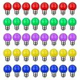 40 PACK - 3W LED Bombillas de Colores E27 Casquillo Gordo 3W 240Lm 220V-240V AC Bombillas LED Multicolor Vistoso LED Lámpara Luz Ambiente para Hogar,...