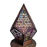 Lámpara turca Lámpara de pie marroquí, Luz de estilo bohemio, Lámpara colorida de plástico, Lámparas antiguas, Lámparas de linterna para...