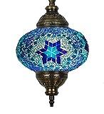 (31 modelos) Lámpara de techo colgante hecha a mano con mosaico, 2019 impresionante 41,9 cm de altura – 17,78 cm, globo turco marroquí de cristal...