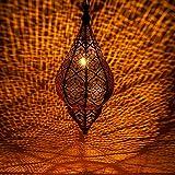 Lámpara Oriental Marroquí - lamparilla colgante - farola de techo Kihana negro 40cm - muy práctica para una iluminación excelente - transmite una...
