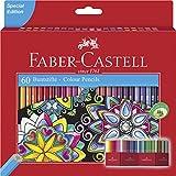 Faber-Castell 111260 - Estuche-soporte de cartón con 60 lápices de colores, multicolor