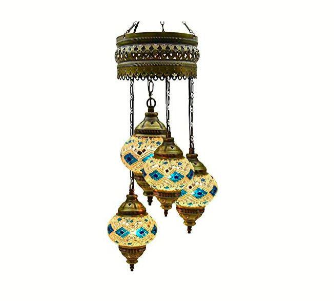 lampara mosaico de techo 4 globos