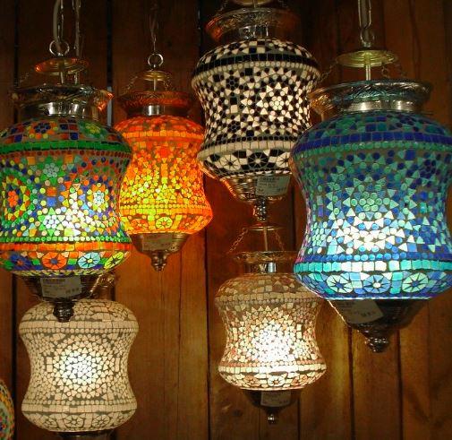 lamparas turcas de colores