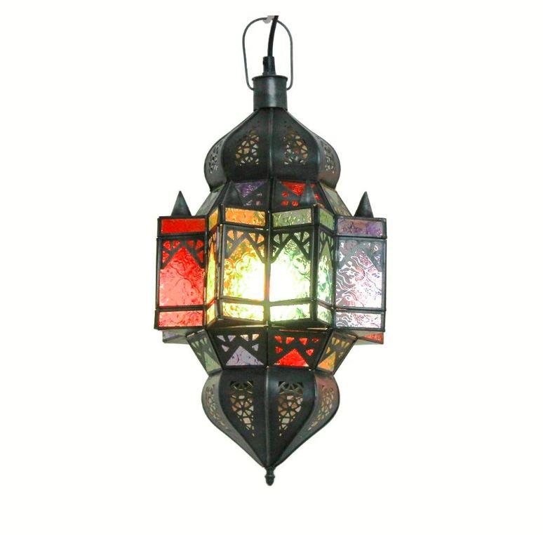 Lámpara árabe colgante multicolor