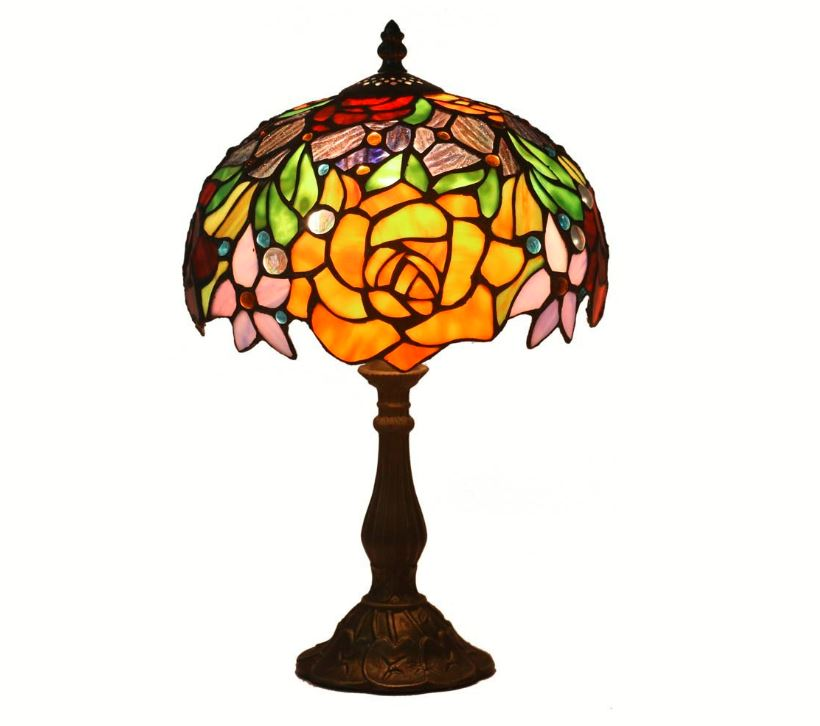 Lampra Tiffany de sobremesa color