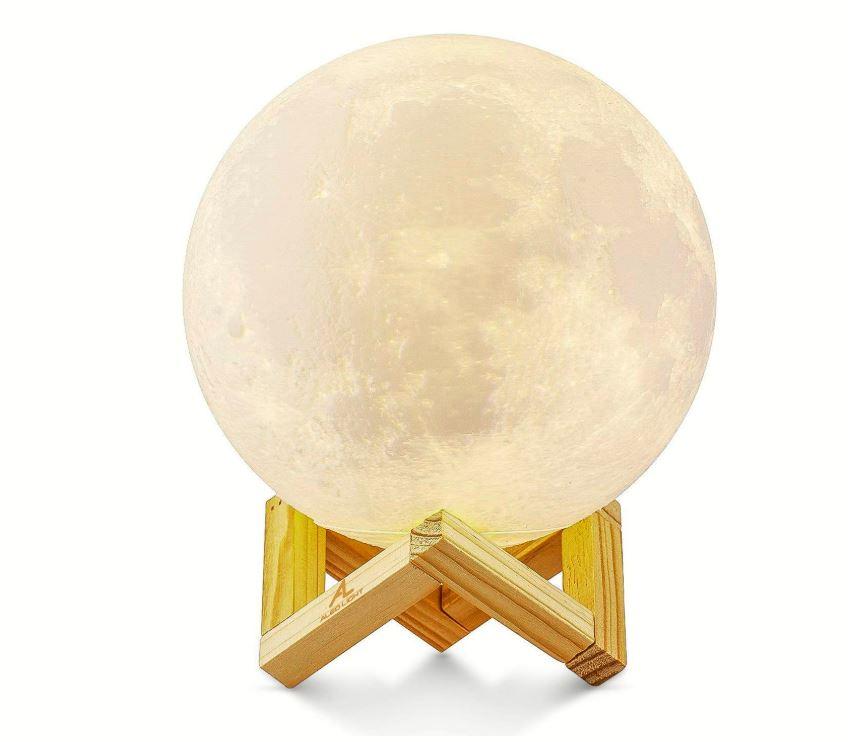 Lámpara lunar de color blanco